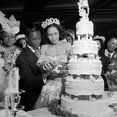 """On Easter Sunday 1948, recently divorced jazz pianist, crooner, and legend in the making, Nat """"King"""" Cole married singer Maria Hawkins Ellington.  The Coles were married in Harlem's Abyssinian Baptist Church by Adam Clayton Powell, Jr."""