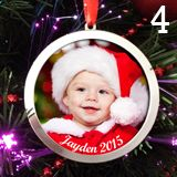 Make Your Own Photo Christmas Ornaments Kit 4 Large 3 Inch Ornaments mistletoe craft Photo Christmas Ornaments, Baby First Christmas Ornament, Babies First Christmas, Christmas In July, Christmas Photos, All Things Christmas, Christmas Crafts, Christmas Decorations, Christmas Foods