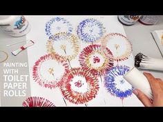 Toilet Paper Rolls Painting Techniques | Easy Fun Art for Kids | Heimtextil FrankFurt - YouTube