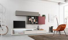 GSG12, un modello moderno di mobili soggiorno dalla collezione Chateau D'Ax con elementi in opaco, materico e in frassinato.