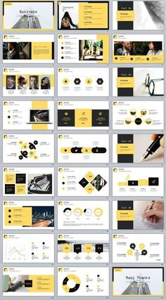 Business infographic : 27 yellow business plan report PowerPoint Template on Behance Ppt Design, Powerpoint Design Templates, Slide Design, Layout Design, Keynote Design, Graphic Design Brochure, Booklet Design, Design Posters, Layout Template