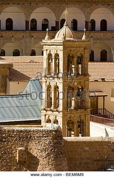 Church of the Transfiguration Bell Tower St Katherine Monastery on the Sinai Peninsula in Egypt
