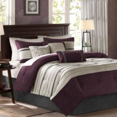 "<p>Add a chic, modern statement to your space with the Kennedy comforter set featuring rich hues and a sophisticated pieced design.</p><div style=""page-break-after: always;""><span style=""display: none;"">"