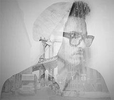 Double Exposure Portraits by Alon Avissar | Inspiration Grid | Design Inspiration