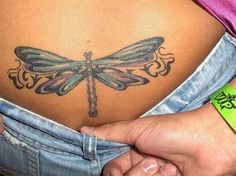 Dragonfly tattoos can hold deep symbolic value as a tattoo. Learn about dragonfly tattoos, dragonfly tattoo designs, dragonfly tattoo meanings, dragonfly tattoo ideas, and tattoo pictures. Back Tattoos Spine, Girl Back Tattoos, Back Tattoo Women, Cover Up Tattoos, Foot Tattoos, Lower Back Tattoos, Tattoos For Women, Butterfly Tattoos Images, Butterfly Tattoo Designs