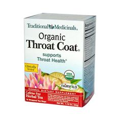 Traditional Medicinals Organic Throat Coat Herbal Tea - 16 Tea Bags - Case Of 6