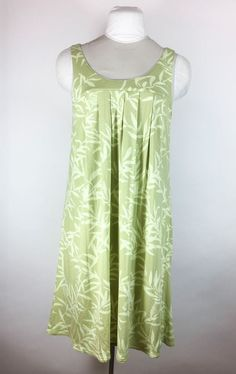 Soma Lounge Wear Green Floral Dress Nightgown Sleep Shirt Baby Doll Soft Sz Med  #SomaIntimates #Gowns $24.99 + $3.39 s/h