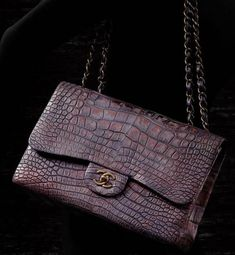 From way back - Chanel Classic Flab Bag in Alligator from Paris Shanghai Collection 2010