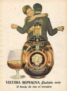 ✔ Vecchia Romagna etichetta nera Vintage Italian Posters, Pub Vintage, Vintage Advertising Posters, Vintage Italy, Vintage Travel Posters, Vintage Advertisements, Poster Vintage, Vintage Food Labels, Old Poster