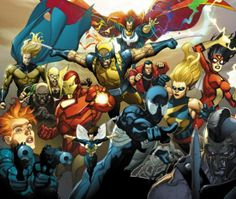 Lots of my favorite Marvel characters :D