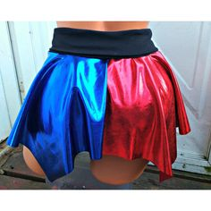 Suicide Inspired Harley Quinn Costume Cosplay Pixie Hem Mini Skirt ($25) ❤ liked…