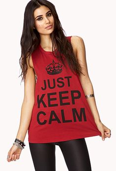 Just Keep Calm Muscle Tee | FOREVER21 - 2000140308