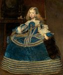 KHM, Infantin Margarita Teresa in blauem Kleid