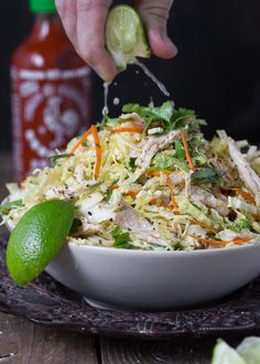 """thedinnerconcierge: """"Vietnamese~Inspired Chicken and Cabbage Salad (via The Urban Poser:: Vietnamese Inspired Chicken & Cabbage Salad (Paleo)) """" Asian Recipes, Whole Food Recipes, Dinner Recipes, Cooking Recipes, Healthy Recipes, Paleo Dinner, Healthy Meals, Dinner Ideas, Quick Recipes"""
