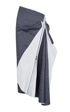 Denim Contradiction Skirt by MATICEVSKI for Preorder on Moda Operandi