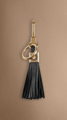 Iconic London landmark key charm with leather tassels. Find the perfect gift this festive season at Burberry.com #burberrygifts #christmas