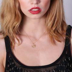 Gold filled dream catcher necklace gold filled necklace by Avnis