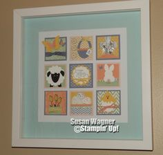 Easter 12 x 12 framed shadow box art by Susan Wagner