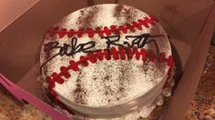 The Sandlot themed cake. Birthday Party. Birthday cake. Babe Ruth. Baseball birthday party.