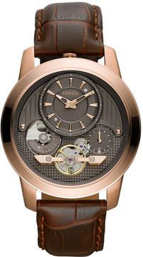 Men's Brown Fossil Grant Twist Automatic Watch ME1114