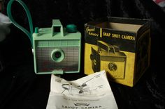 1960's Mint Green Vintage Savoy Camera by Fleaosophy on Etsy, $32.00