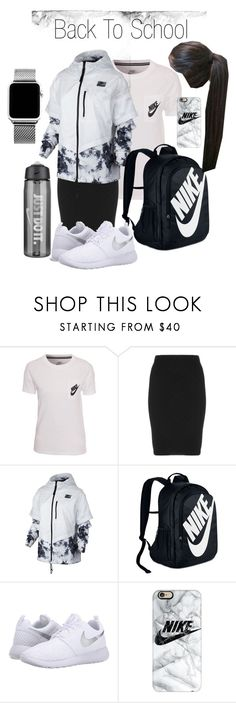 """Back to School Outfits"" by ecord1 ❤ liked on Polyvore featuring NIKE, Manon Baptiste, Casetify, GetTheLook, school and apostolicpentecostal"