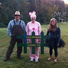 CHARLOTTE'S WEB costumes for a group #literary #costumes #halloween