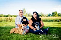Family Portrait with Furry FriendsElevate Photography | Elevate Photography