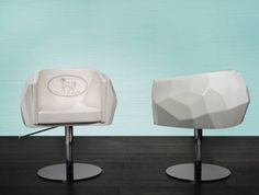 Fendi Crysal Salon Chair-    The Fendi Casa Crystal chair is multi-faceted like a precious gem. A design triumph, its iconic form  will certainly add a sparkle to your salon.