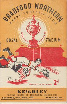 Bradford Northern v Keighley - Rugby League Cup Feb 1950 by Frederic Humbert (www.rugby-pioneers.com), via Flickr