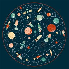 Space by Harriet Taylor Seed, via Behance