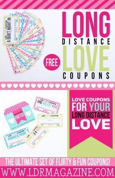 Long Distance Love Coupons – Free Printable!