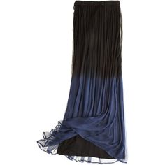 CHAN LUU Ombre Skirt found on Polyvore