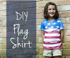 You can make your own shirt for the of July or any day that you need a DIY flag shirt. All you need is painter's tape or masking tape and real spray paint. Spray paint on a shirt! Simple and easy 10 minute craft project! Fourth Of July Shirts For Kids, 4th Of July Outfits, T Shirt Designs, Flag Shirt, T Shirt Diy, All You Need Is, Diy Kids Shirts, Creative Shirts, 4th Of July Parade