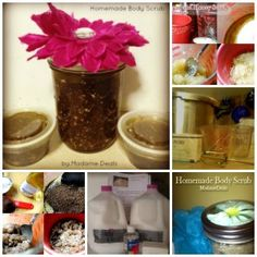 Check out this great round-up of Homemade Bath and Body Wash and Scrub Recipes.