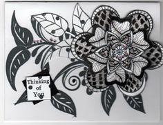 Creative Journey: More Zentangle Flowers