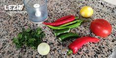 Acılı Ezme (Diyarbakır Usulü) Tuna, Pasta, Stuffed Peppers, Vegetables, Kebab, Food, Garnishing, Onions, Meals