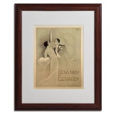 Rena May Et Gerardy Matted Framed Vintage Advertisement