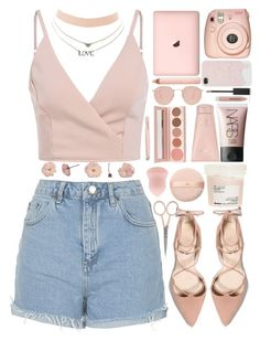 """Untitled #318"" by cherryprincessannie ❤ liked on Polyvore featuring Topshop, Lalique, Davines, Fujifilm, NARS Cosmetics, H&M, Ray-Ban, 100% Pure, Anastasia Beverly Hills and Trish McEvoy"