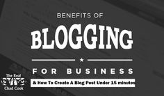 If you are a business owner or a Internet Marketer, you want to WATCH THE FULL VIDEO of the Benefits of Blogging for Business. Click the link to WATCH NOW!