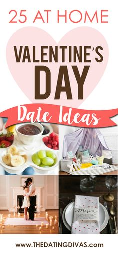 We\'ll be at home this Valentine\'s Day! Can\'t wait to use one of these Valentine\'s Day Dates this year! www.TheDatingDiva...