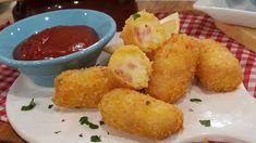 Croquetas de pescado, jamón y queso, morcilla y espinaca