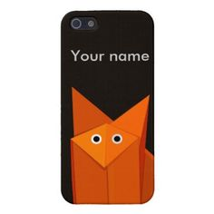 Personalized iPhone 5 case with a geometric illustration of a cute origami fox looking at you wondering why you are looking at it. $37.95 #iphone #iphone #iphone5s #iphonecase
