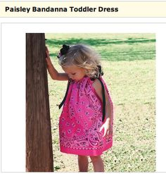 Joann Fabric: Toddler Bandanna Dress. Lost this pattern, glad to find a blog with the necessary info! Madison will love it!
