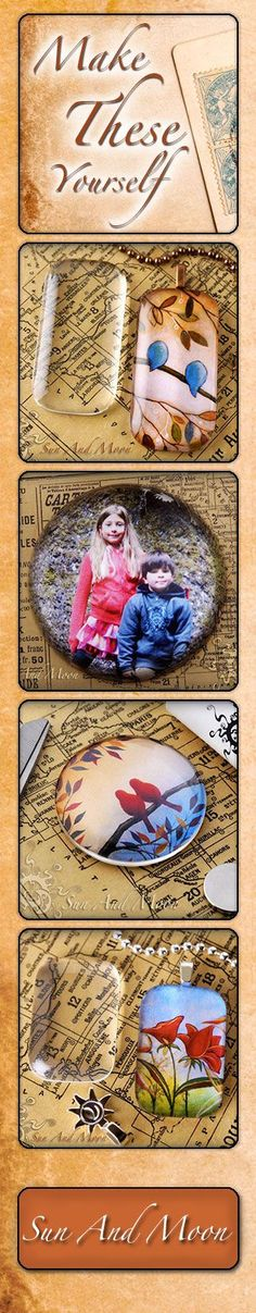 Glass Tile Pendants - Tutorial- I made one with a picture of Jake & Julia. Possible class project for mother's day?