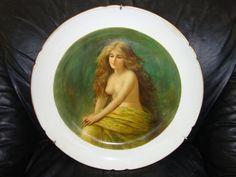Antique KPM Russian  Porcelain Plaque Plate Gardner Portrait Nude