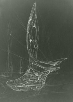 architectural sketch 3 by Mihaio on DeviantArt Architecture Concept Drawings, Conceptual Architecture, Parametric Architecture, Organic Architecture, Conceptual Design, Futuristic Architecture, Amazing Architecture, Art And Architecture, Architecture Student