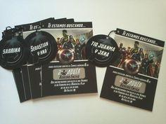 The Avengers - Invitaciones (cumple)