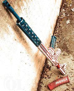 Patriotic Red, White & Blue AR-15 5.56/.223