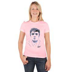 Elvis Sketched Kiss Ladies T-Shirt